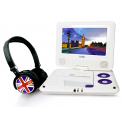 "Dvd Portable 7"" 705-74Huk + Casque Uk"