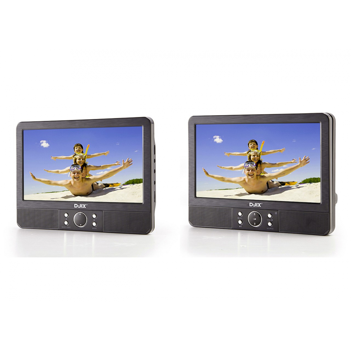 lecteur dvd portable 9 double cran pvs 905. Black Bedroom Furniture Sets. Home Design Ideas