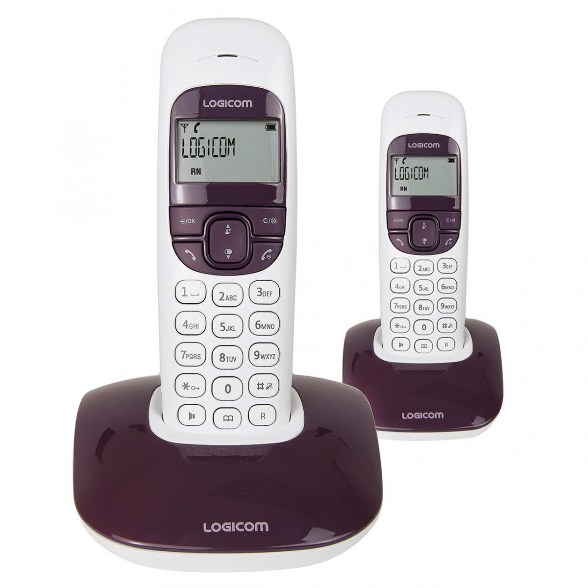 t l phone dect main libre soly 250 duo produits t l phonie r sidentielle logicom. Black Bedroom Furniture Sets. Home Design Ideas