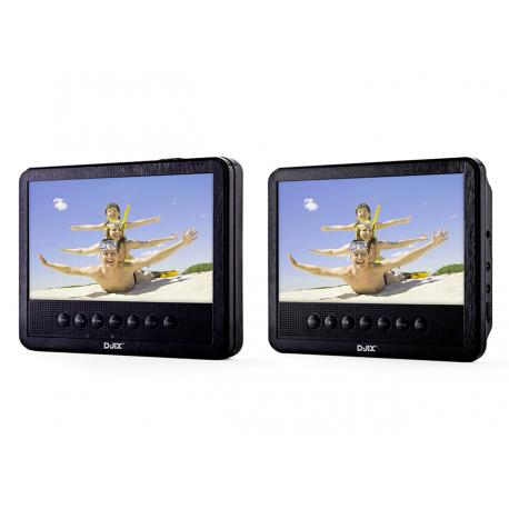 """Lecteur DVD portable 7"""" double écran - PVS 705-39HSM"""
