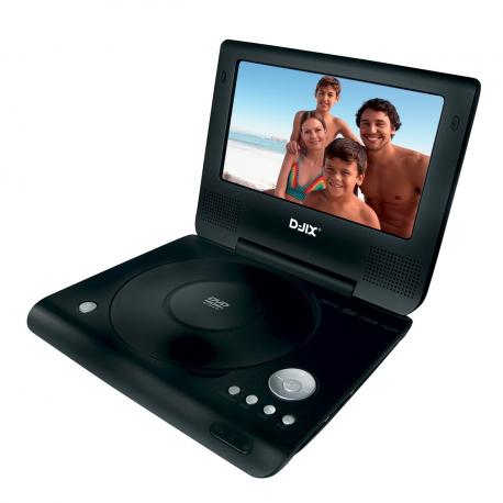 """Lecteur Dvd Portable 7"""" Rouge"""