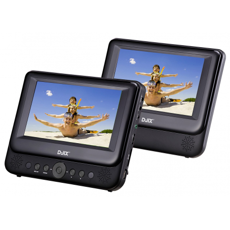 "Lecteur Dvd Portable 9"" + 1 Moniteur + Support Metal"