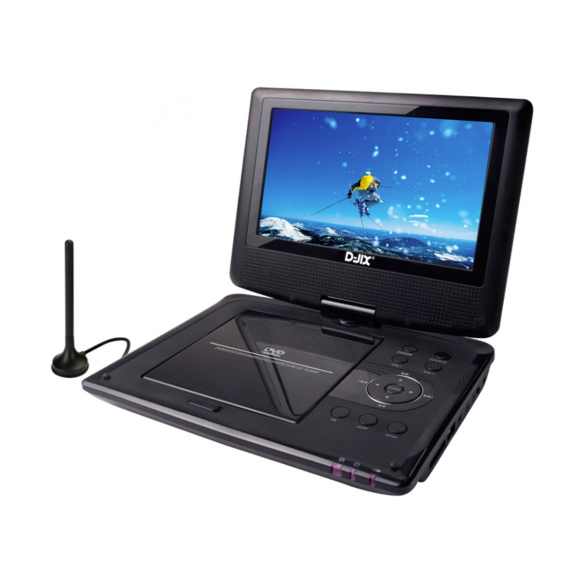 lecteur dvd portable 9 39 39 rotatif tnt produits lecteur dvd portable d. Black Bedroom Furniture Sets. Home Design Ideas