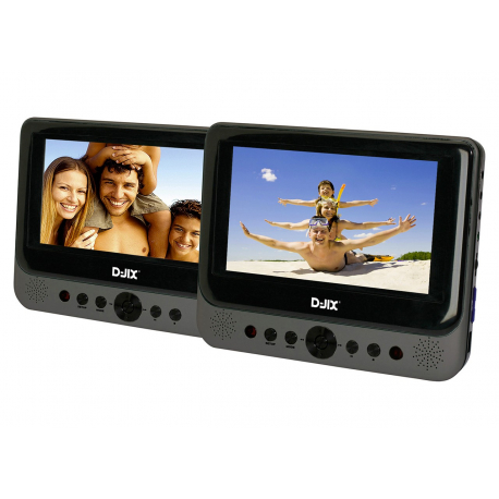 "Lecteur Dvd Portable Double Player 7"" + Support Metal"