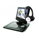 "Dvd Portable 9"" 905-71H + Casque Blanc"